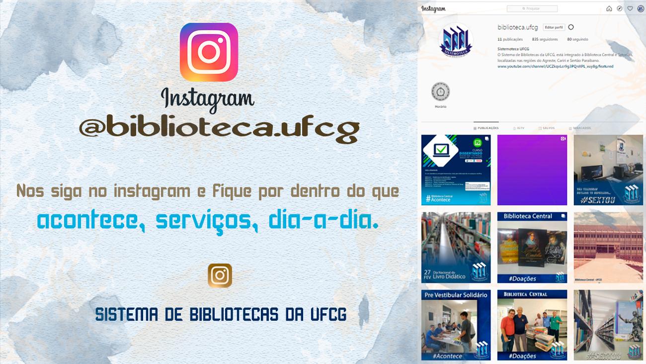 Instagram do Sistemoteca UFCG